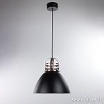 **Luxe industriële hanglamp zwart-koper