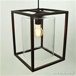 * Landelijke hanglamp lantaarn bruin