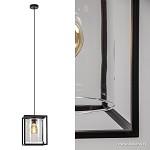Landelijke hanglamp lantaarn frame zwart