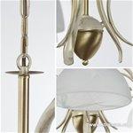 *Klassieke hanglamp creme-goud woonkamer