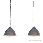 *Industriële eettafel hanglamp betonlook