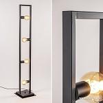 Zwarte metalen vloerlamp open frame