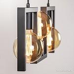 Kleine eettafel hanglamp zwart frame