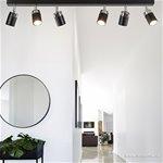 *Plafondspot 6-lichts zwart modern