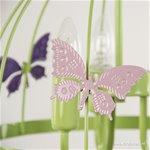 *Groene hanglamp-kinderlamp met vlinders