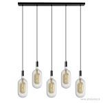*Hanglamp 5-lichts met goudkleurig snoer