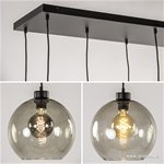 Grote hanglamp 8-lichts glas smoke