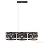 Hanglamp 3-lichts trommel zwart