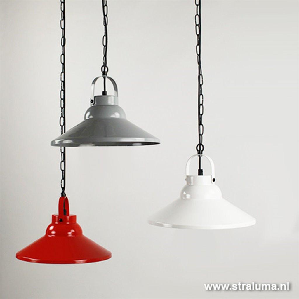Metalen hanglamp kap rood keuken-bar