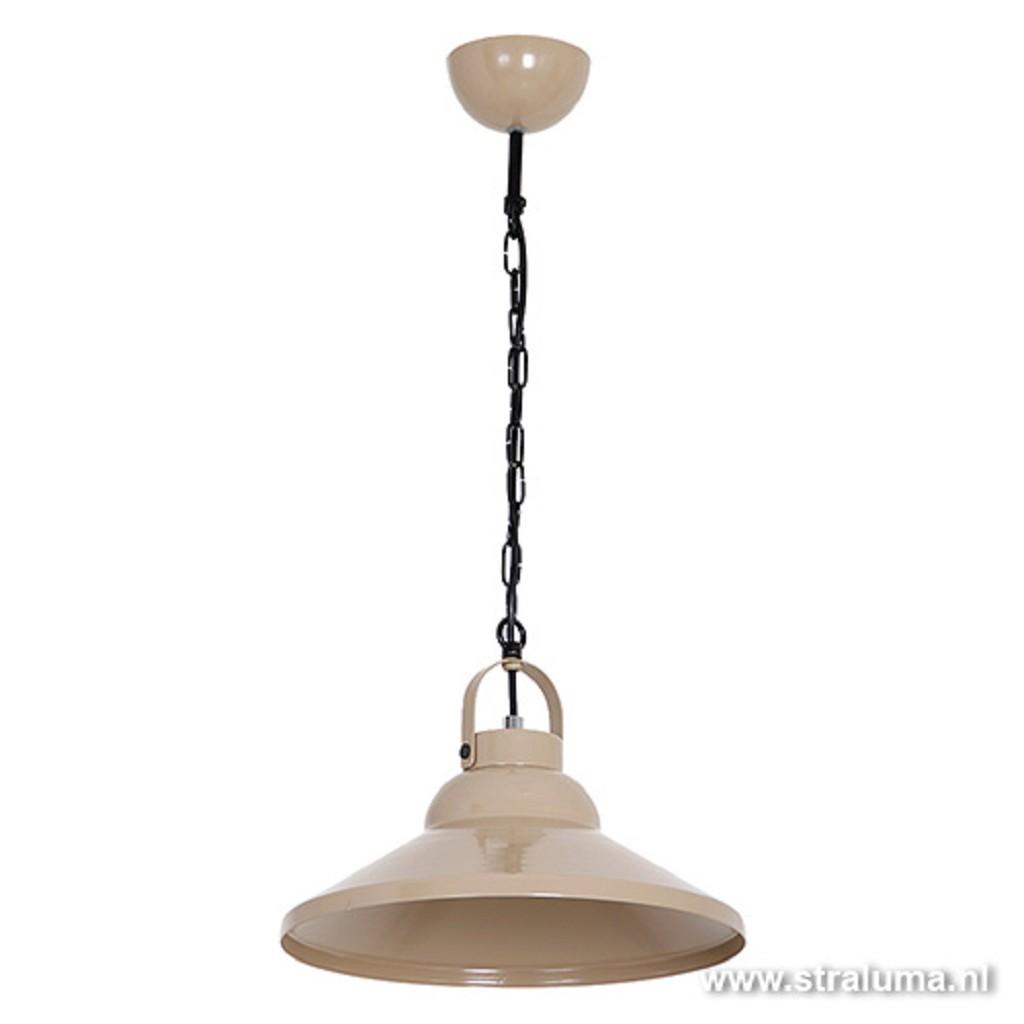 Beige hanglamp kap metaal bar-keuken