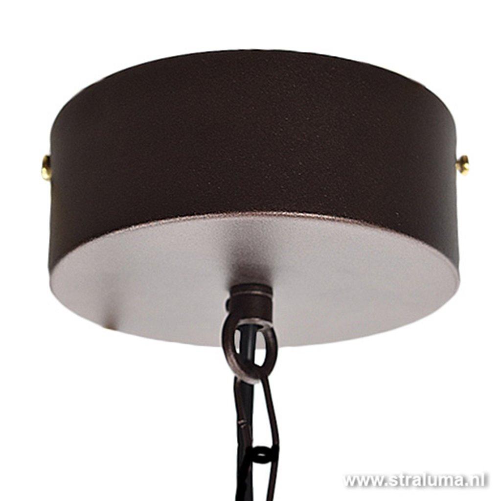 *Landelijke eettafelhanglamp bruin