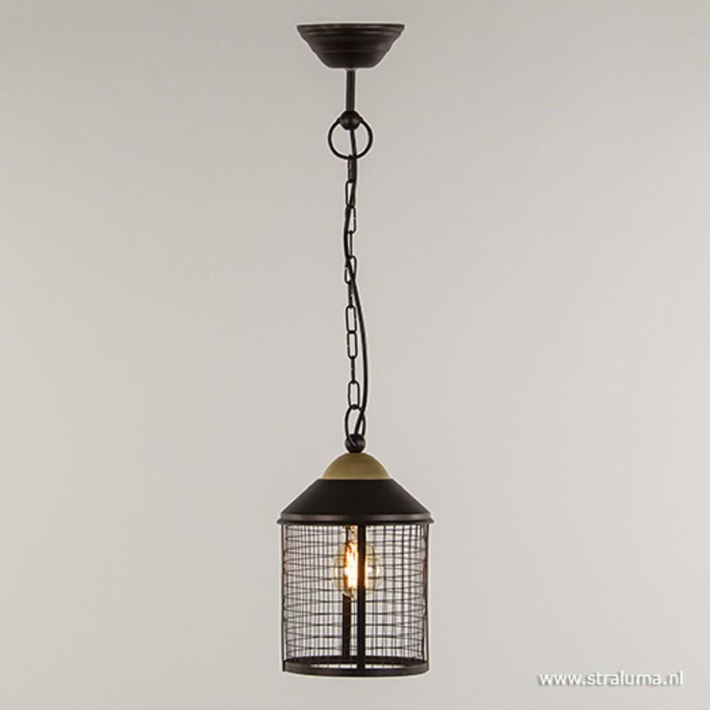 *Landelijke bruine hanglamp-lantaarn hal