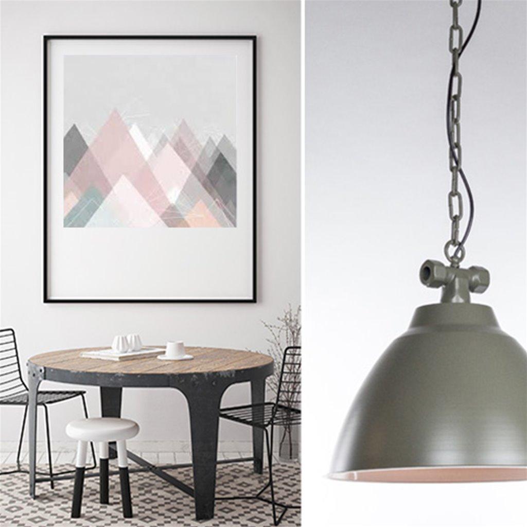 Industriele hanglamp Clay keuken