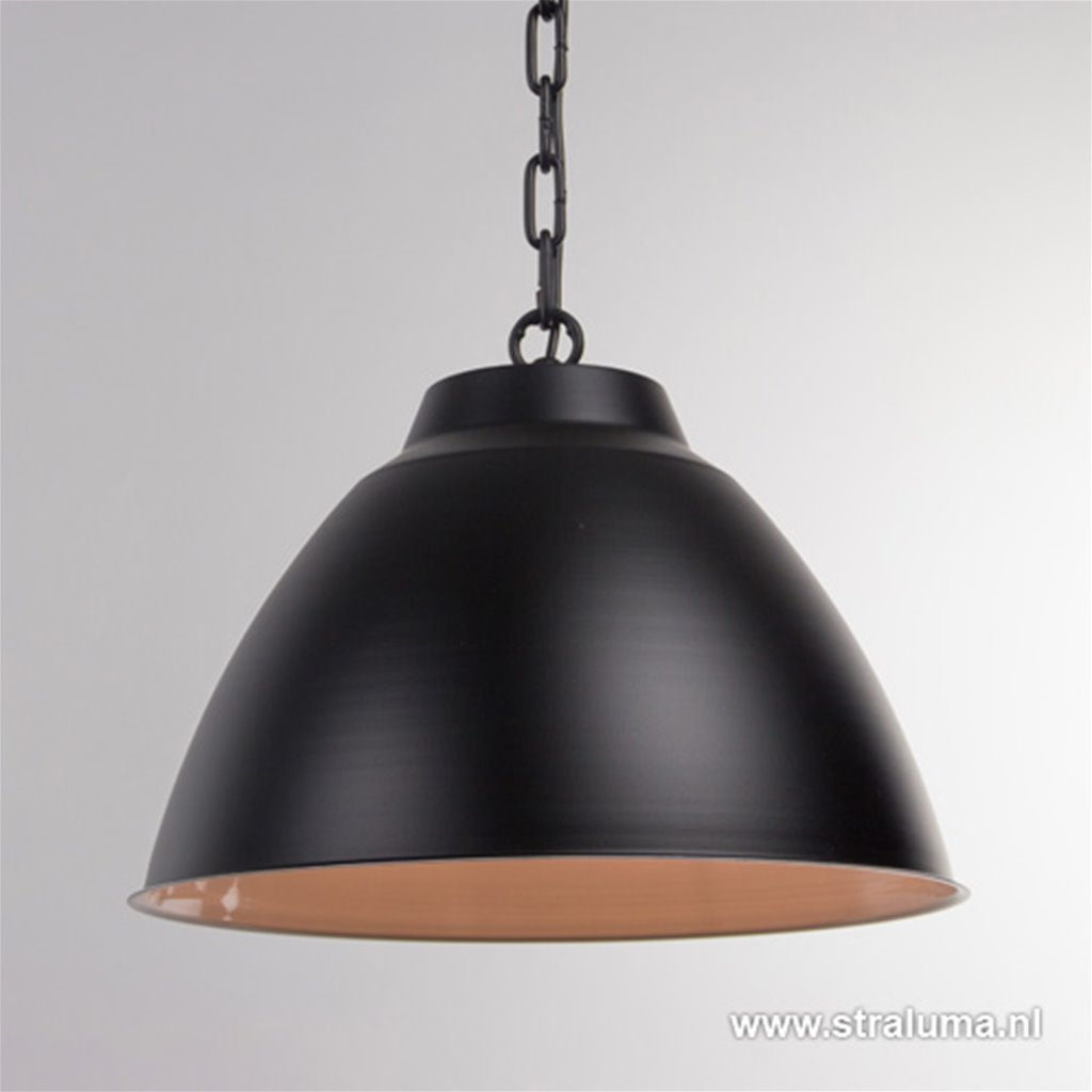 *Zwarte eettafel hanglamp 2-lichts
