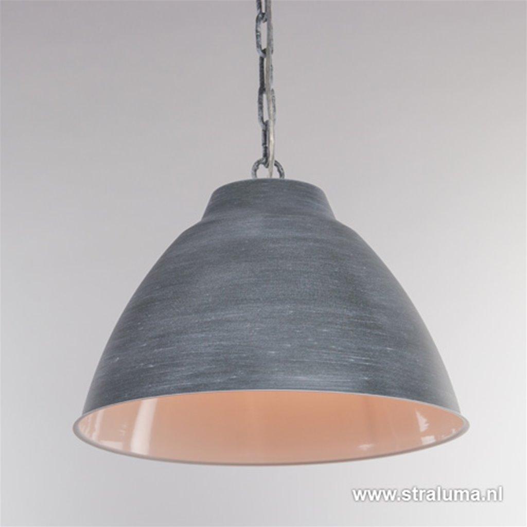 Industriële eettafel hanglamp betonlook