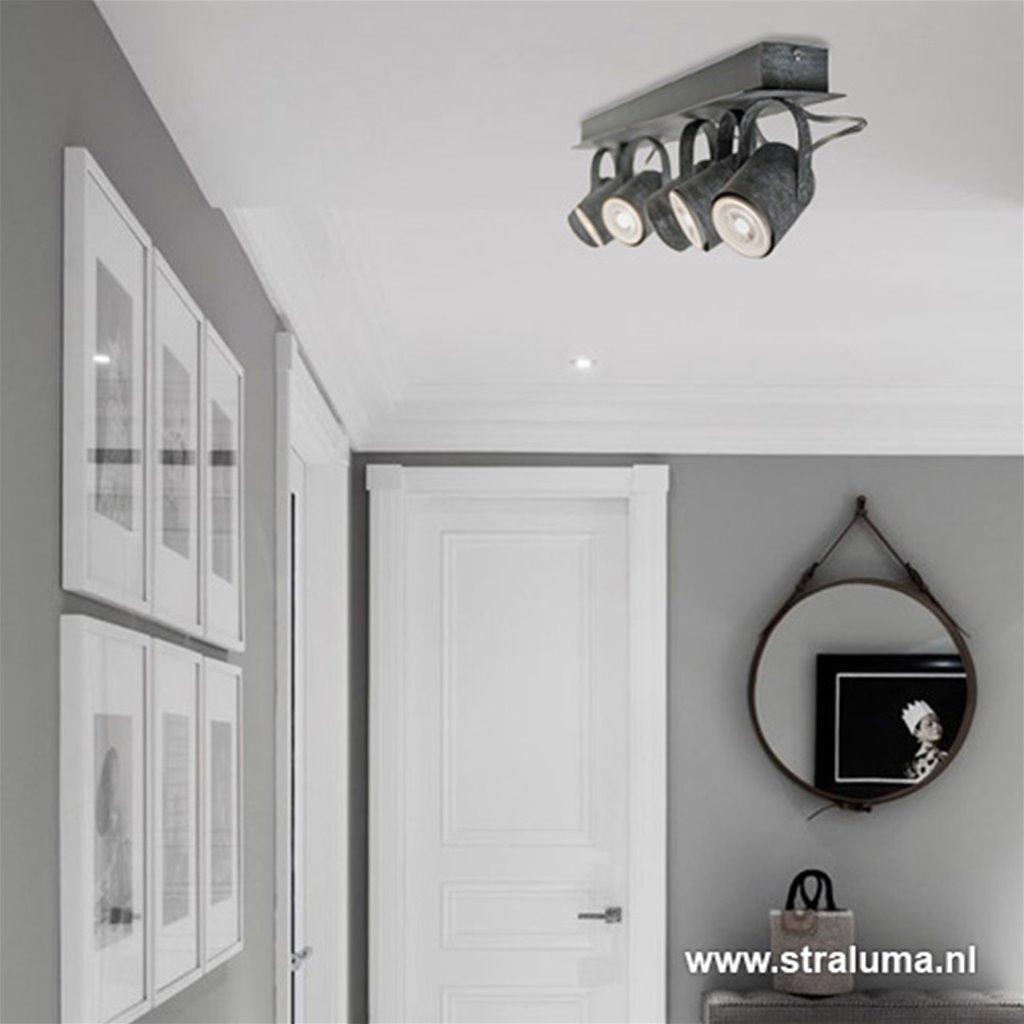 *Industriële 6 lichts betonlook spots