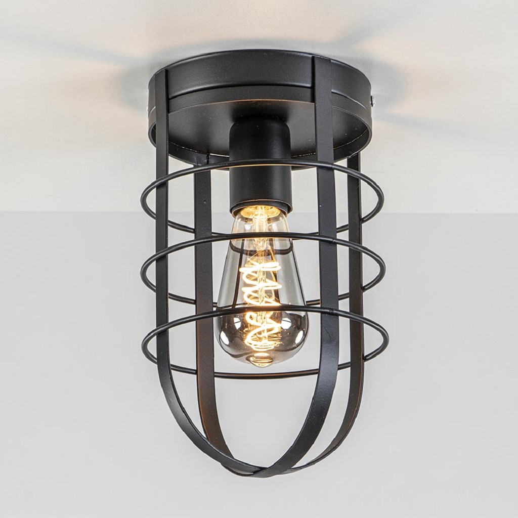 Plafondlamp kooi zwart