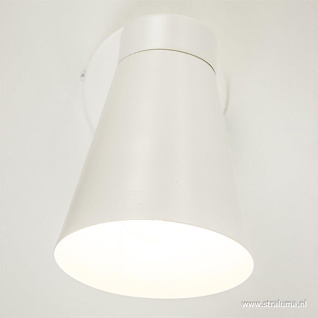 Moderne wandlamp met kap wit