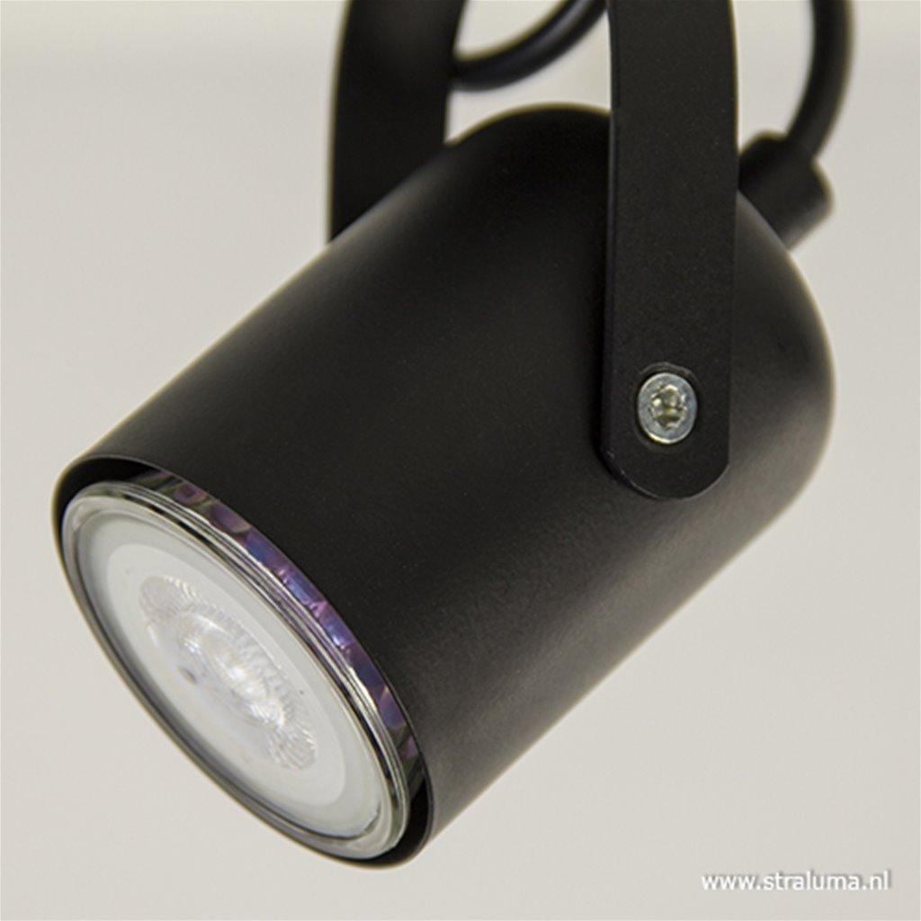 Verstelbare opbouwspot 1-lichts Zwart
