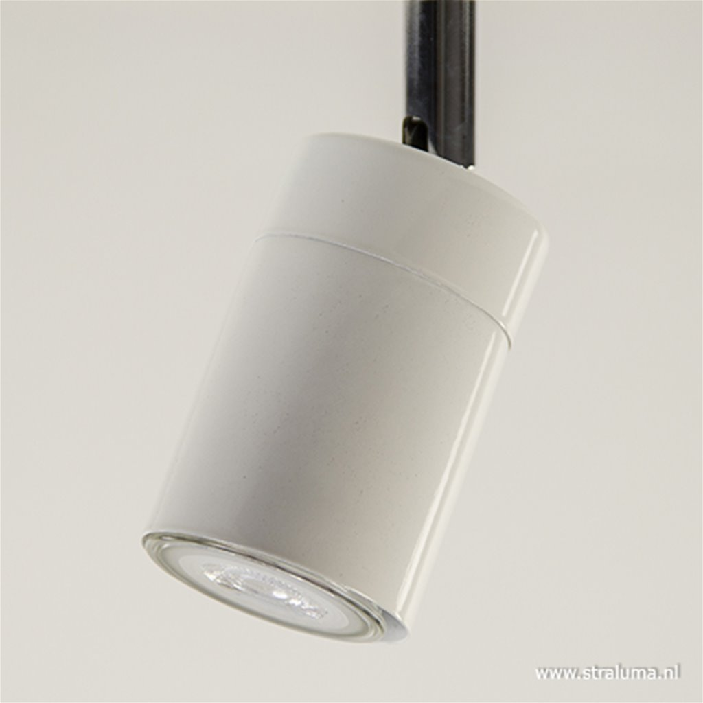 Witte verstelbare opbouwspot 1-lichts