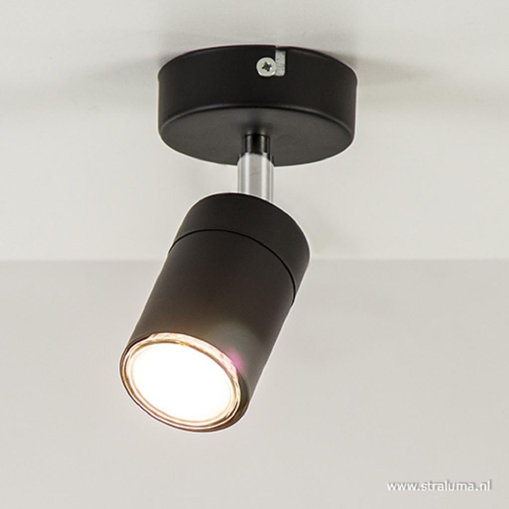 Moderne plafondspot zwart 1-lichts