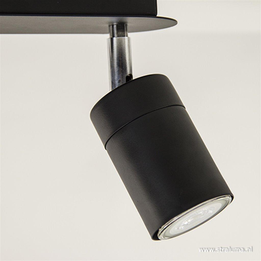 Moderne 2-lichts plafondspot zwart