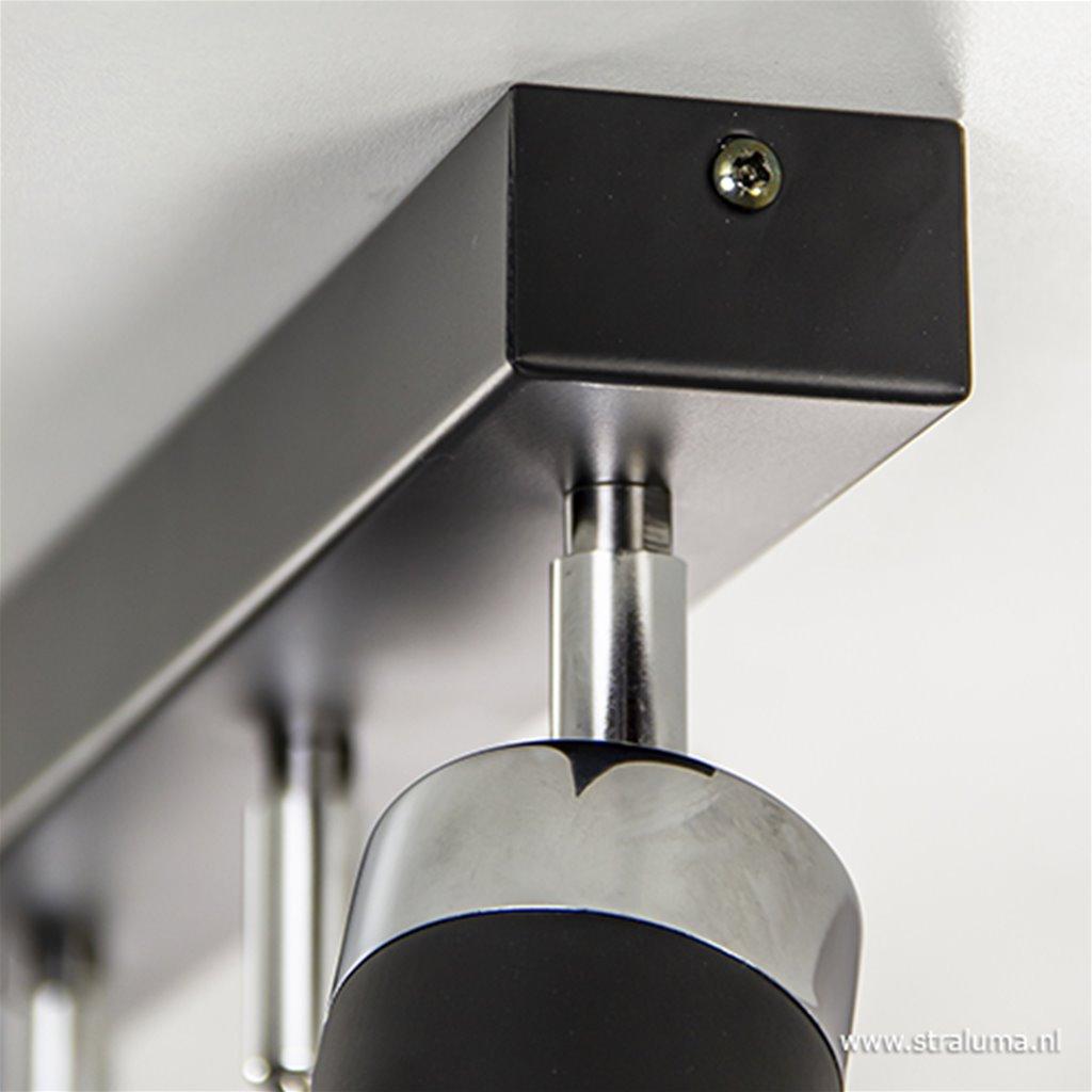 Plafondspot 6-lichts zwart modern