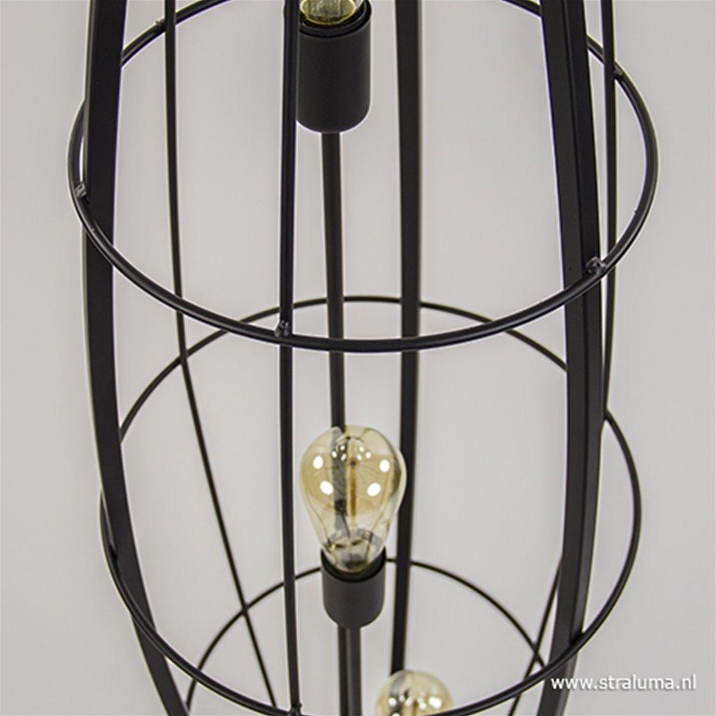 Zwarte vloerlamp 'Havana' metaal