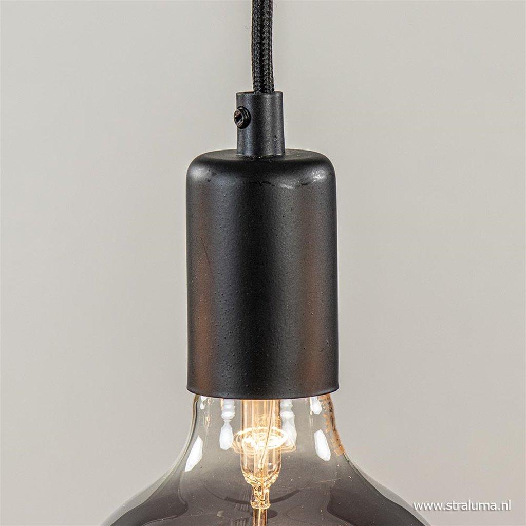 Hanglamp balk 110cm + 5x pendel zwart