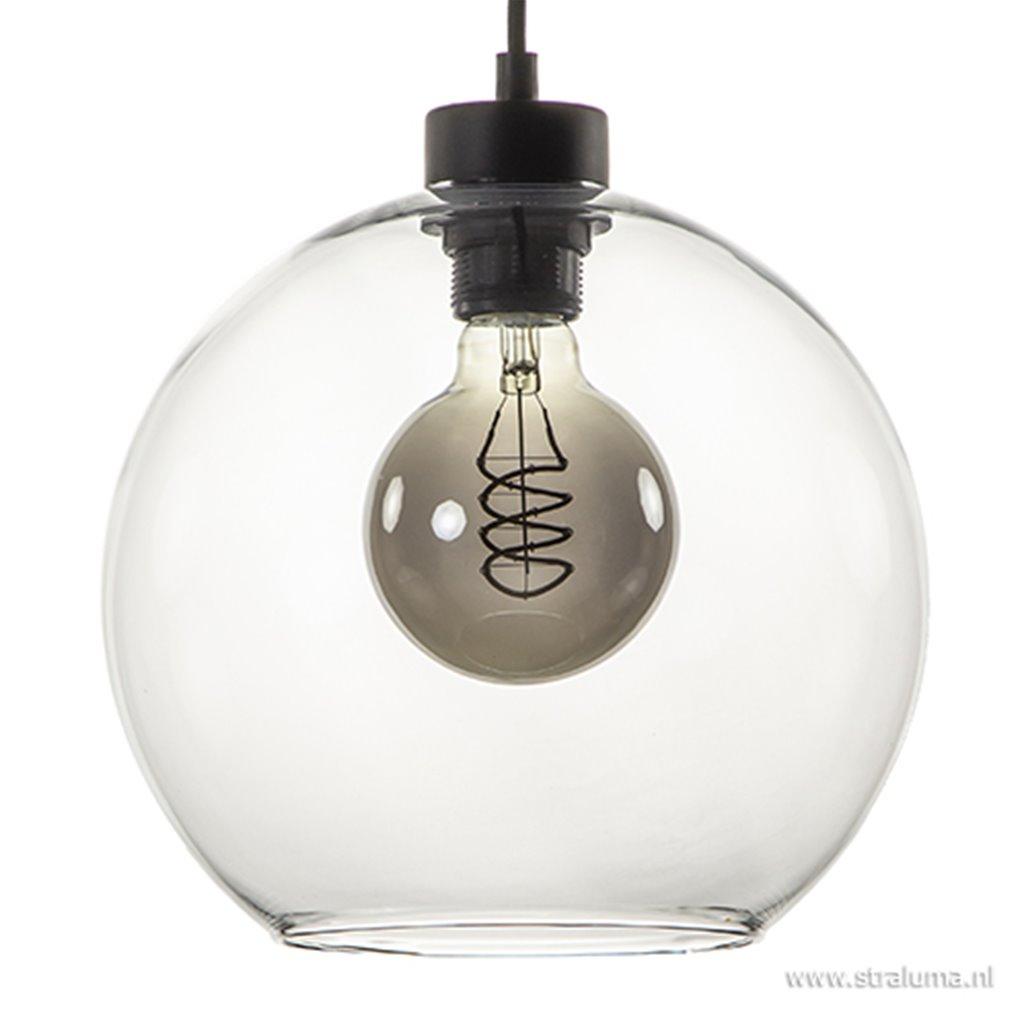 Glazen 3-lichts hanglamp eettafel clear