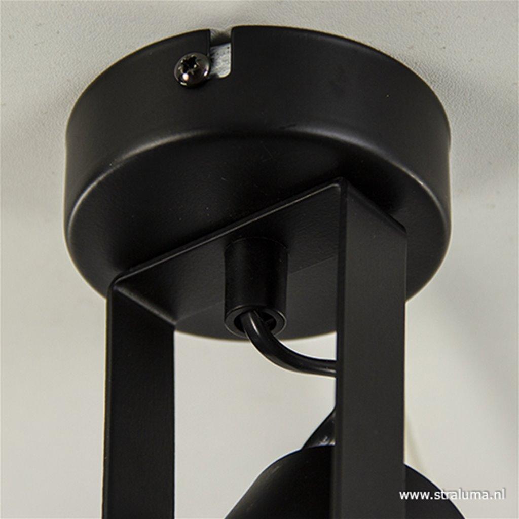 Opbouwspot tube lang zwart gu10