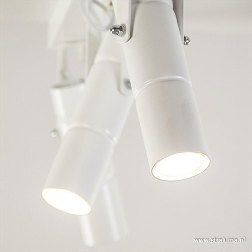 Witte plafondspot 3-lichts metaal