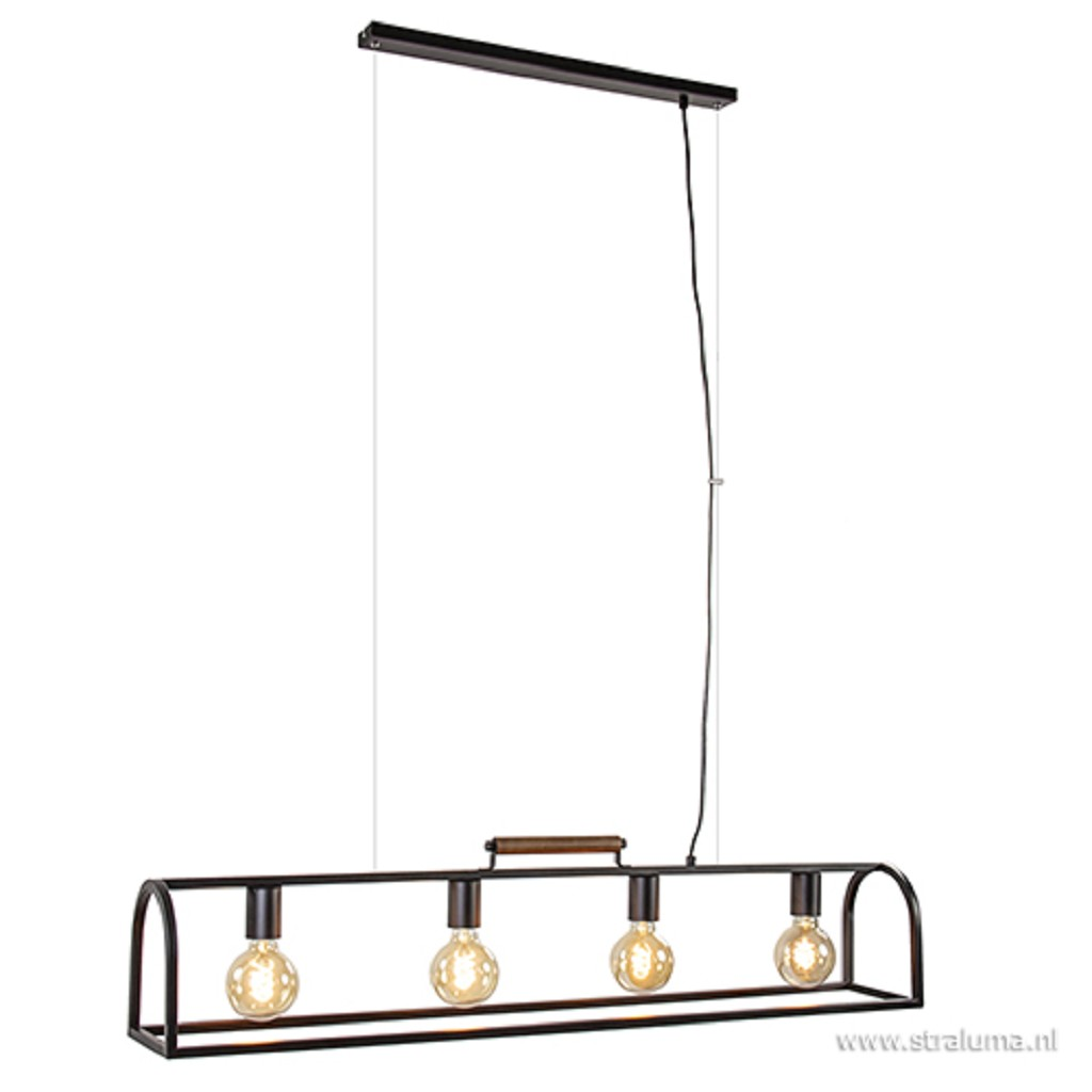 *Landelijke hanglamp frame zwart