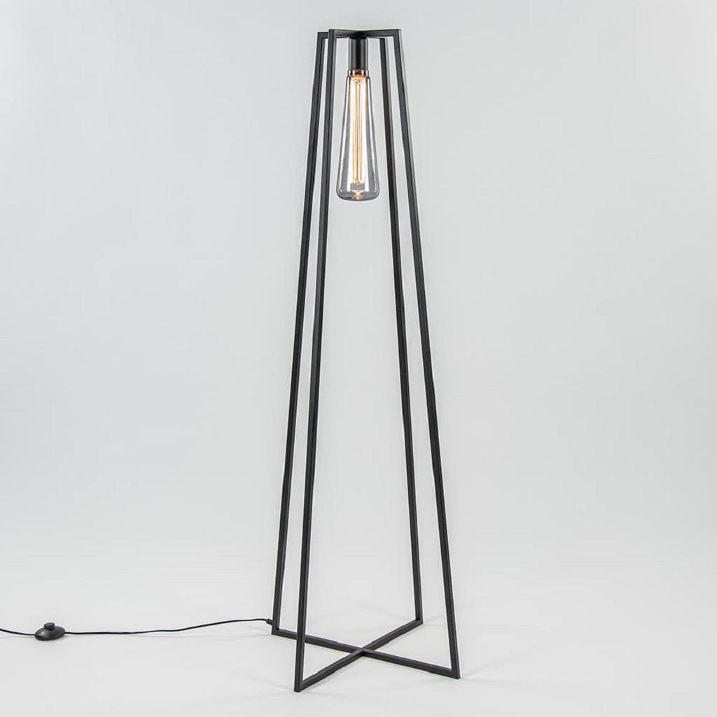Trendy vloerlamp zwart frame excl lichtbron