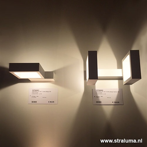 Design wandlamp LED wit verstelbaar