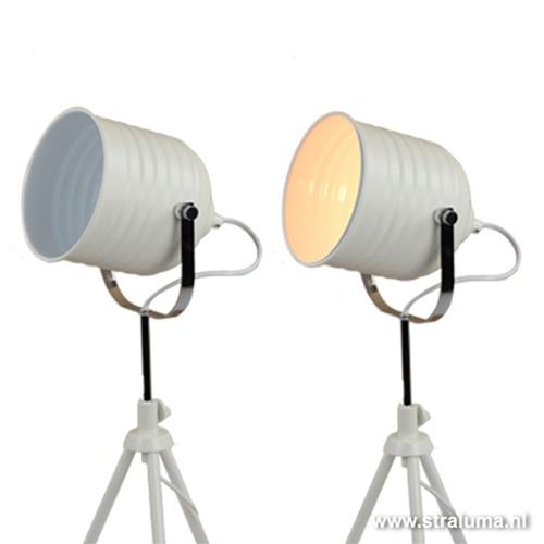 Driepoot tafellamp Studio spot wit