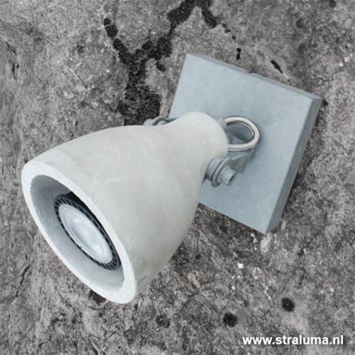 Industriële plafondlamp-spot beton LED
