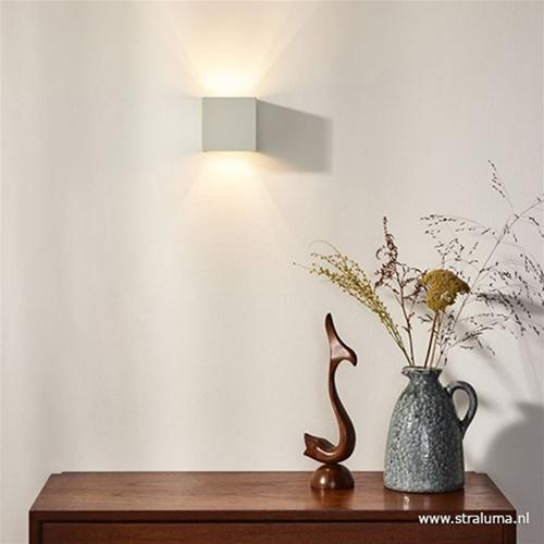 Wandlamp kubus wit verstelbaar incl. led