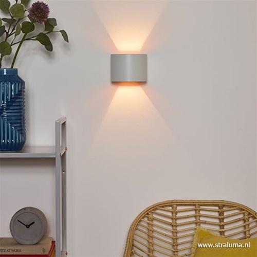 XIO wandlamp wit afgerond inclusief LED