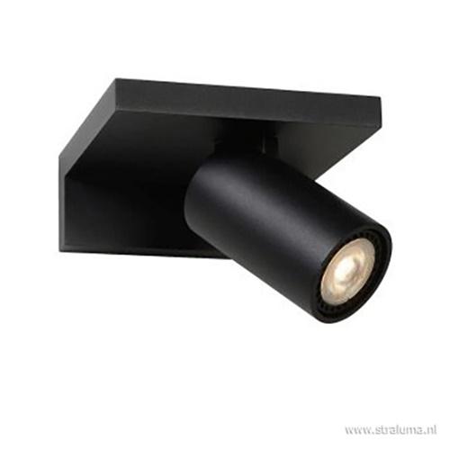 Wandspot zwart verstelbaar gu10