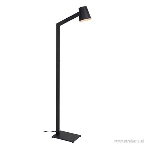 Moderne design vloerlamp zwart