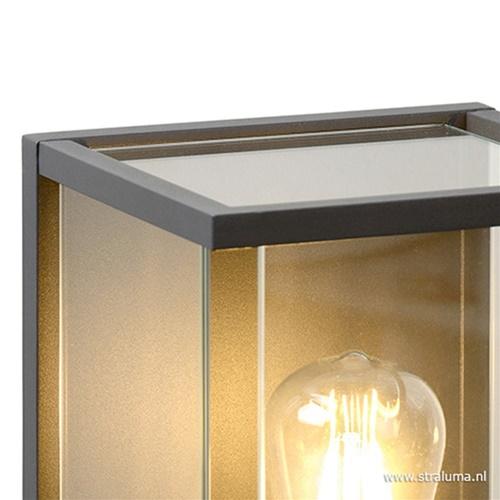 Wandlamp buiten antraciet/glas IP44