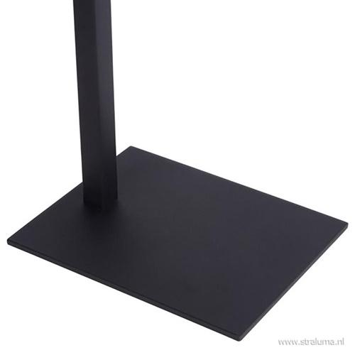 Moderne tafellamp met verstelbare kap zwart/brons