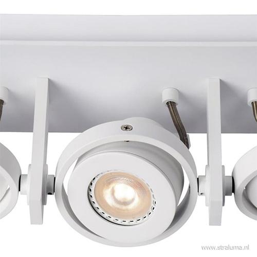Plafondspot 3-lichts balk wit d-t-w