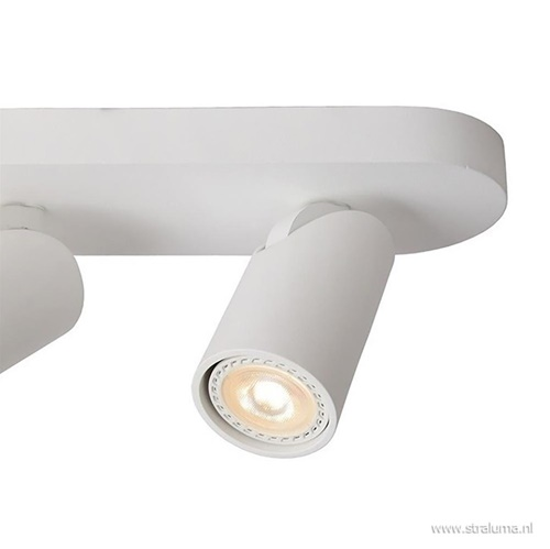 Plafondspot 4L balk wit tube GU10 dim to warm