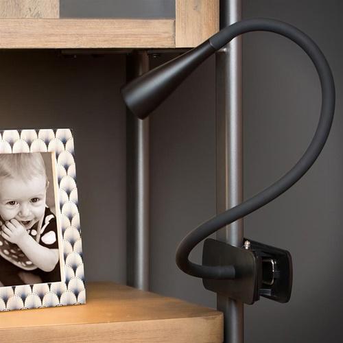 Moderne LED klemlamp zwart inclusief dimbaar LED