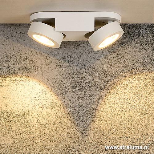Moderne LED plafondlamp wit woonkamer | Straluma