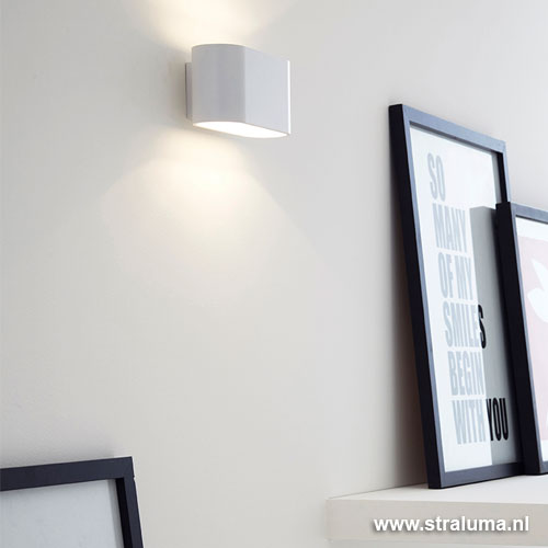 design wandlamp wit woonkamer hal straluma