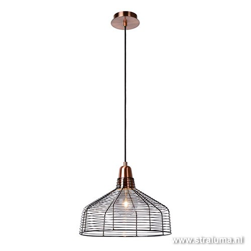 Draad hanglamp koper moino eettafel straluma for Hanglamp eettafel