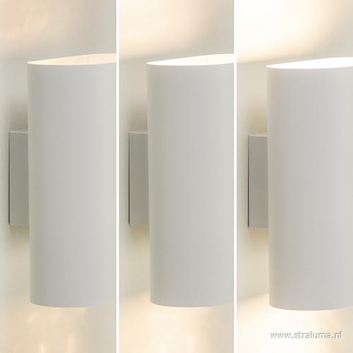 Ovaal wandlamp wit design slaapkamer | Straluma